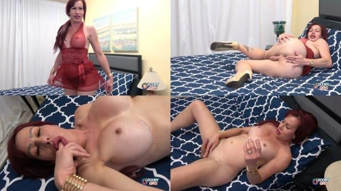 Dina - Cums For You!  (Transsexual) GroobyGirls.com [HD]